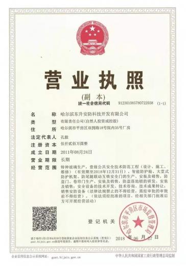 东升安防营业执照